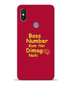 Boss Number Xiaomi Redmi Y2 Mobile Cover