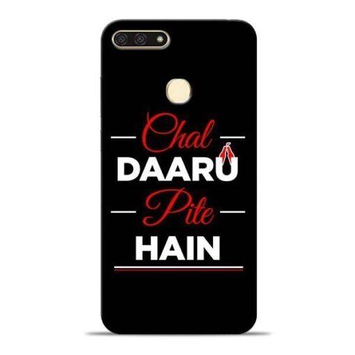 Chal Daru Pite H Honor 7A Mobile Cover