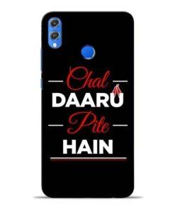Chal Daru Pite H Honor 8X Mobile Cover