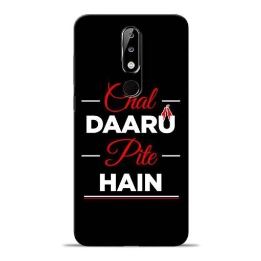 Chal Daru Pite H Nokia 5.1 Plus Mobile Cover