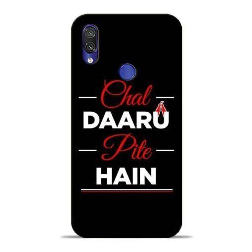 Chal Daru Pite H Xiaomi Redmi Note 7 Mobile Cover