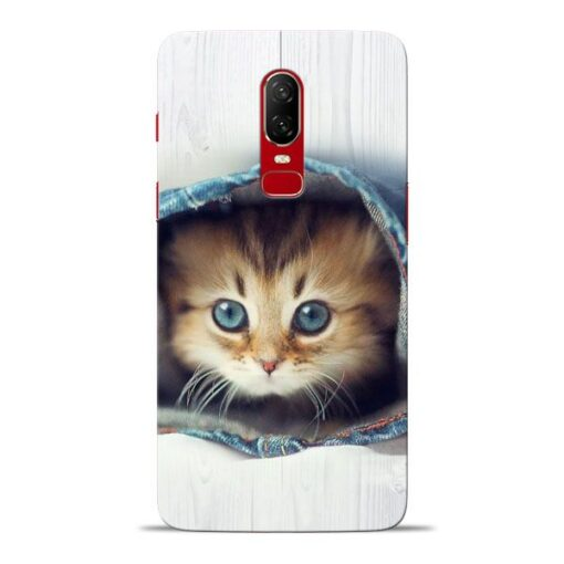 Cute Cat Oneplus 6 Mobile Cover
