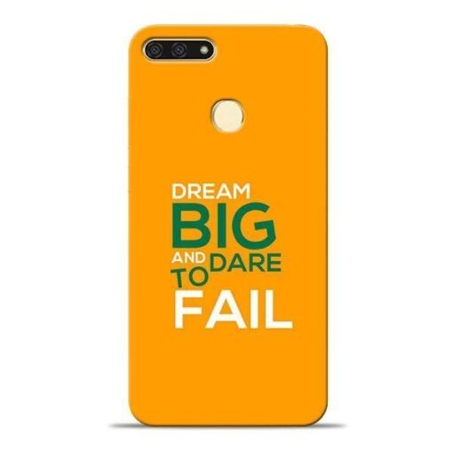 Dare to Fail Honor 7A Mobile Cover