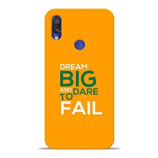 Dare to Fail Xiaomi Redmi Note 7 Pro Mobile Cover