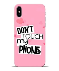 Dont Touch Apple iPhone X Mobile Cover