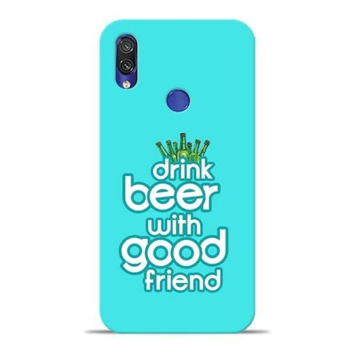 Drink Beer Xiaomi Redmi Note 7 Pro Mobile Cover