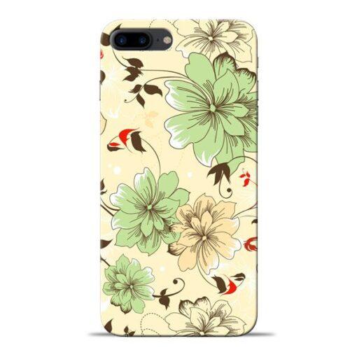 Floral Design Apple iPhone 8 Plus Mobile Cover