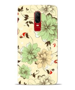 Floral Design Oneplus 6 Mobile Cover