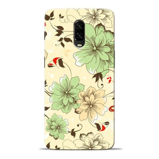 Floral Design Oneplus 6T Mobile Cover
