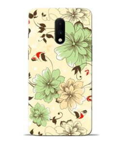 Floral Design Oneplus 7 Mobile Cover