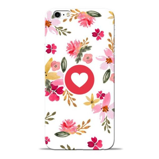 Floral Heart Apple iPhone 6 Mobile Cover