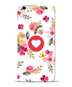 Floral Heart Apple iPhone 6s Mobile Cover