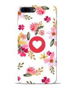 Floral Heart Apple iPhone 7 Plus Mobile Cover