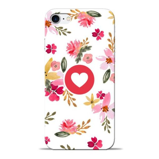 Floral Heart Apple iPhone 8 Mobile Cover