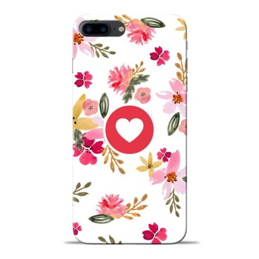 Floral Heart Apple iPhone 8 Plus Mobile Cover