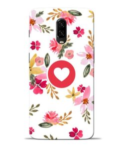 Floral Heart Oneplus 6T Mobile Cover