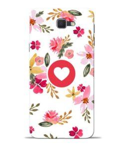 Floral Heart Samsung J7 Prime Mobile Cover