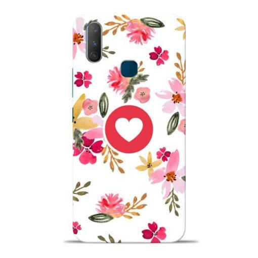 Floral Heart Vivo Y17 Mobile Cover