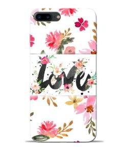 Flower Love Apple iPhone 8 Plus Mobile Cover