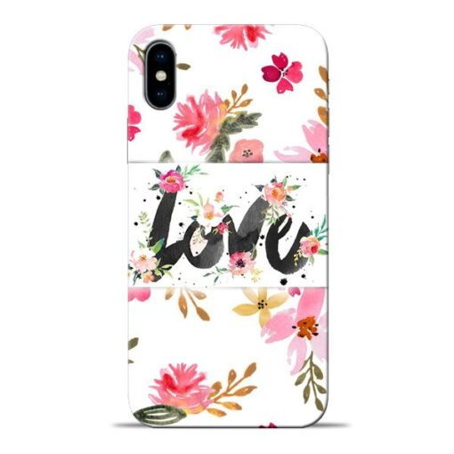 Flower Love Apple iPhone X Mobile Cover