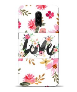 Flower Love Oneplus 6T Mobile Cover