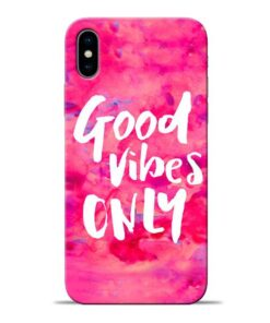 Good Vibes Apple iPhone X Mobile Cover