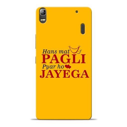 Hans Mat Pagli Lenovo K3 Note Mobile Cover