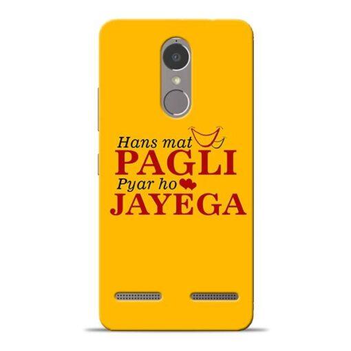 Hans Mat Pagli Lenovo K6 Power Mobile Cover