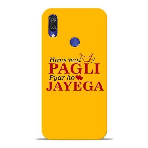 Hans Mat Pagli Xiaomi Redmi Note 7 Pro Mobile Cover