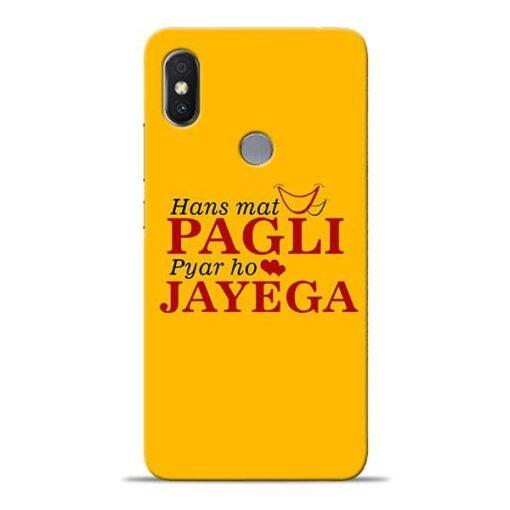 Hans Mat Pagli Xiaomi Redmi Y2 Mobile Cover