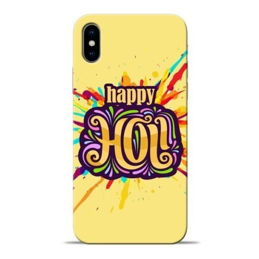 Happy Holi Apple iPhone X Mobile Cover