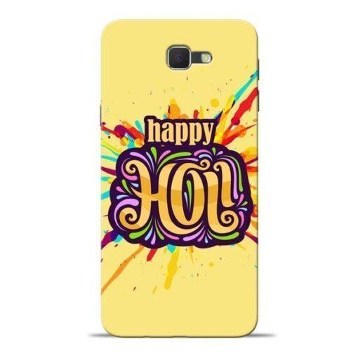 Happy Holi Samsung J7 Prime Mobile Cover