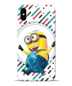 Happy Minion Apple iPhone X Mobile Cover