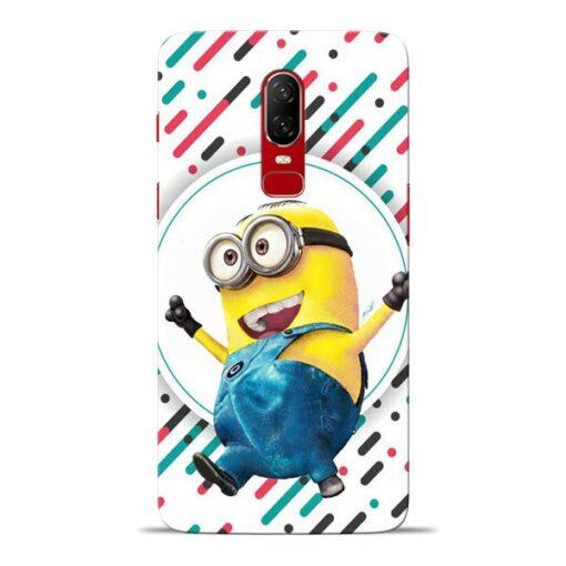 Happy Minion Oneplus 6 Mobile Cover