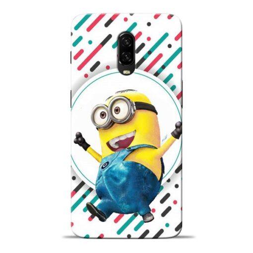 Happy Minion Oneplus 6T Mobile Cover