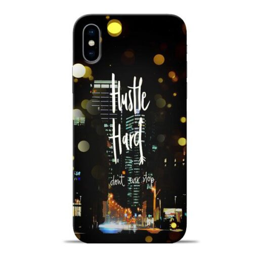 Hustle Hard Apple iPhone X Mobile Cover