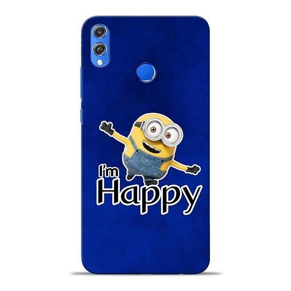 I am Happy Minion Honor 8X Mobile Cover