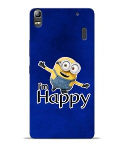 I am Happy Minion Lenovo K3 Note Mobile Cover
