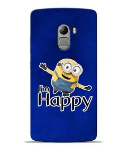 I am Happy Minion Lenovo K4 Note Mobile Cover