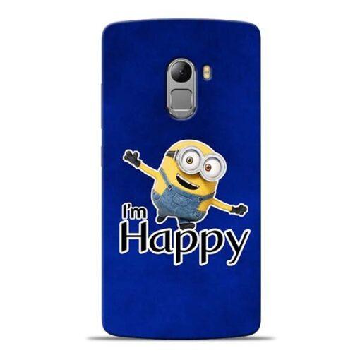 I am Happy Minion Lenovo K4 Note Mobile Cover