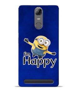 I am Happy Minion Lenovo K5 Note Mobile Cover