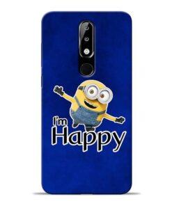 I am Happy Minion Nokia 5.1 Plus Mobile Cover
