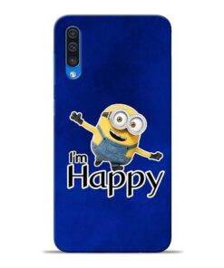 I am Happy Minion Samsung A50 Mobile Cover