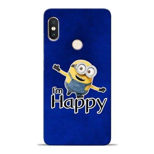 I am Happy Minion Xiaomi Redmi Note 5 Pro Mobile Cover