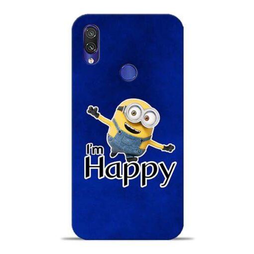 I am Happy Minion Xiaomi Redmi Note 7 Mobile Cover