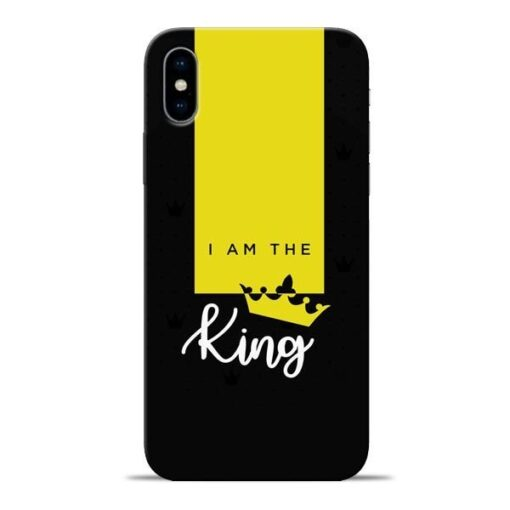 I am King Apple iPhone X Mobile Cover