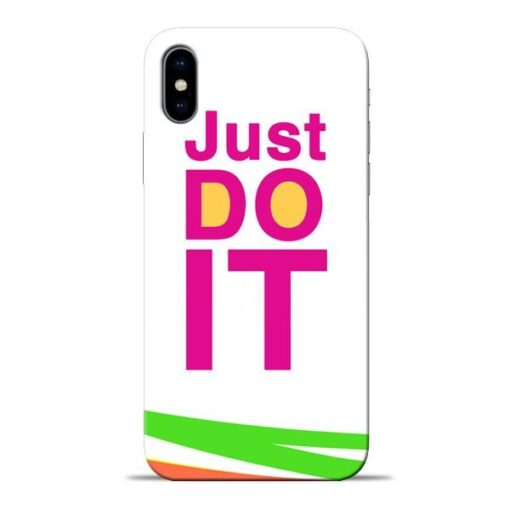 Just Do It Apple iPhone X Mobile Cover