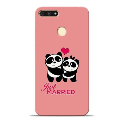 Just Married Honor 7A Mobile Cover