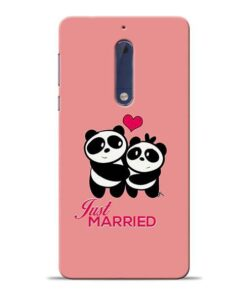 Just Married Nokia 5 Mobile Cover
