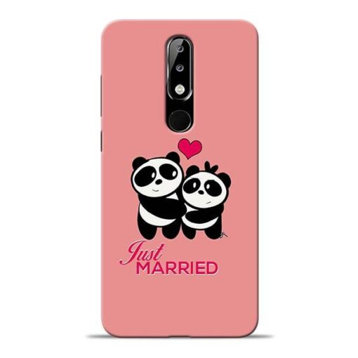 Just Married Nokia 5.1 Plus Mobile Cover